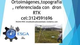Ortoimágenes, Modelos digitales del terrenocon, referenciados con  dron RTK
