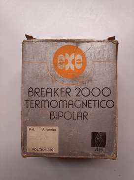 Interruptor Breaker 2000 Termomagnético Bipolar 15a 380v