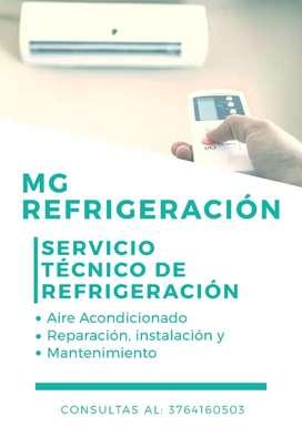 Servicio de técnico, refrigeración de aire acondicionado