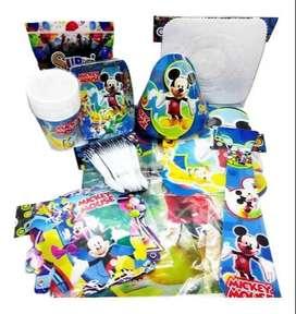 Kit Decoración Piñata Fiesta Infantil Mickey 12 Invitados