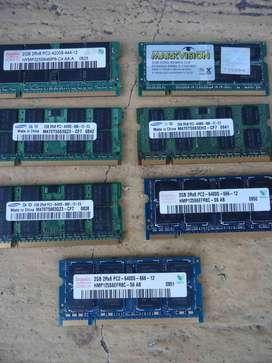 Memorias Ddr2 Para Laptop Usadas Varias Marcas