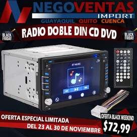 RADIO DOBLE DIN CD DVD