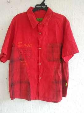 Camisa roja manga corta con bolsillo talla 14/16