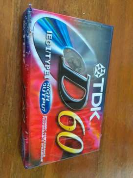 Cassette TDK D60 high output . Hecho en USA sin abrir