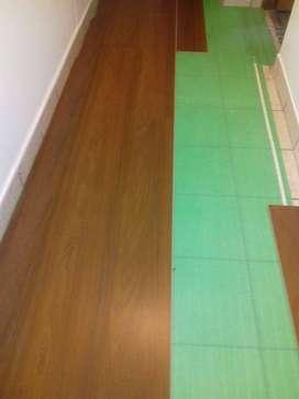 instalación de pisos laminados