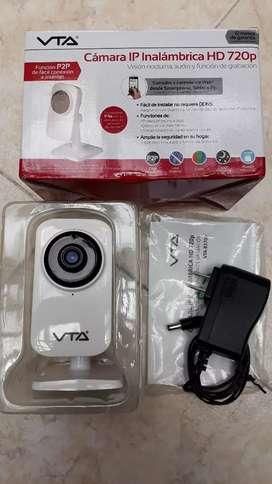 Cámara seguridad IP Inalámbrica HD 720p Color Visión nocturna