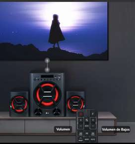 Minicomponente LG Xboom Lk72b 40 Watts Rms Bluetooth Usb Sd