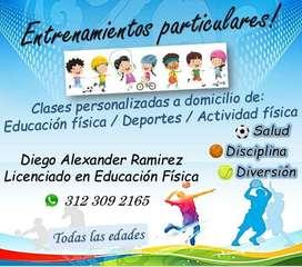 Entrenamientos personalizados de Deportes/Actividad Física/Educación Física