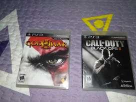 God of War3 y Call of Duty Black Ops 2 PS3 (precio por unidad)