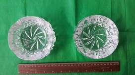 Par Ceniceros de Cristal de Murano
