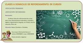 CLASES A DOMICILIO DE REFORZAMIENTO DE CURSOS