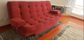 Sofa Cama Nuevo Rojo
