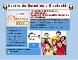 CLASES DE MATEMATICAS, FISICA, QUIMICA, ESTADISTICA, PROYECTOS DE GRADO 3RO DE BACHILLERATO, PROFESOR POLITECNICO