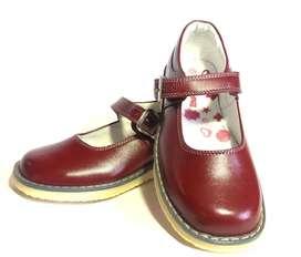 Zapato Calzado Colegial Niña Azul / Vinotinto Hebilla