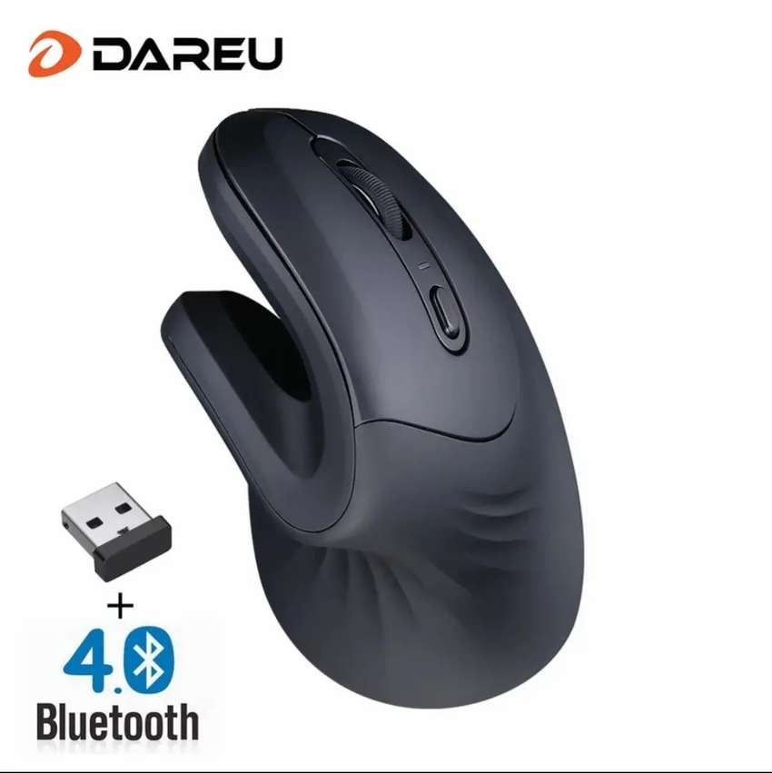 Mouse ergonómico Bluetooth dareu 0