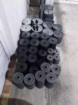 Discos gimnasio $180 el kilo