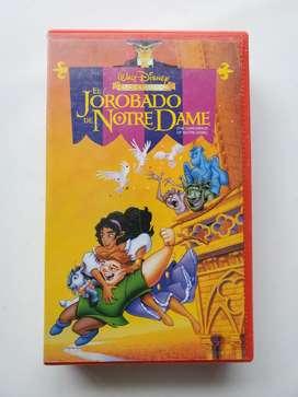 Vhs original el jorobado de notre dame Disney