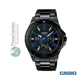 Casio Formal De Acero Inoxidable Negro  Mtd-1075bk-1