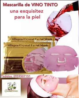 Mascarilla de Vino tinto vendo