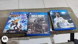Promo  3 juegos  call duty FIFA 18 ratchet