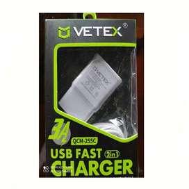 Cargador V8 Vetex 3.1 Carga Rápida