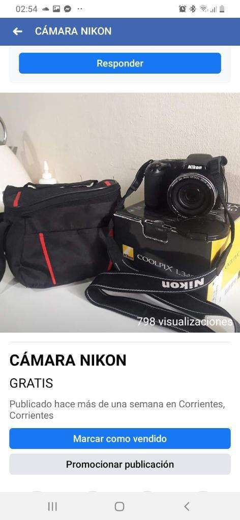 Vendo Cámara Nikon 0