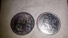 Monedas de plata Un sol 9 decimos