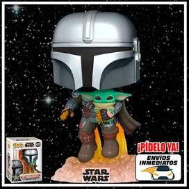 Funko Pop Mandalorian Volando Baby Yoda