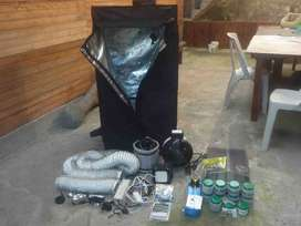 Kit completo cultivo interior indoor LED agro Full Spectrum QB96 240W Abonos y Boosters
