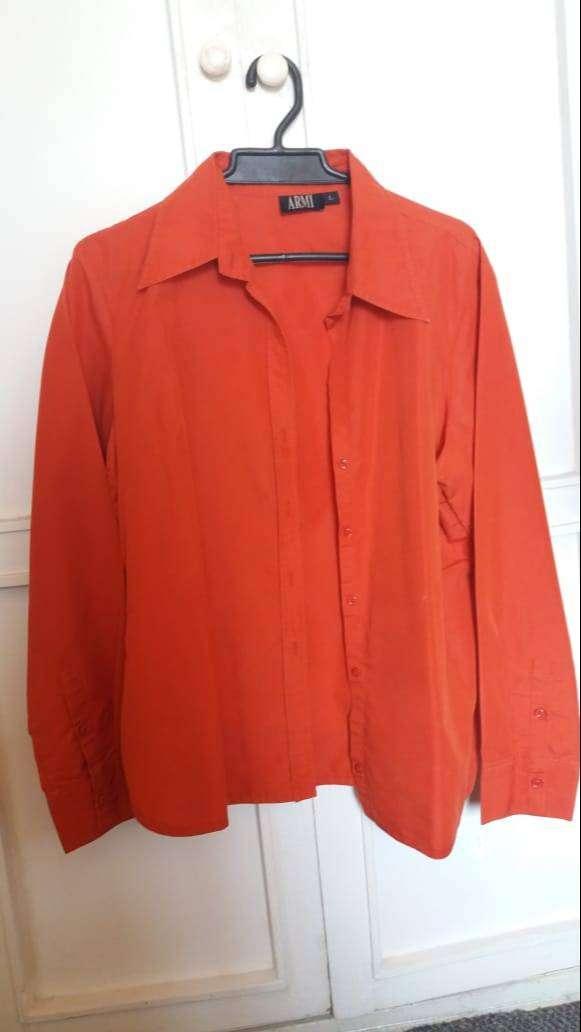 blusa naranja para mujer talla L marca army