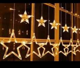 Luz Luces Cascada LED estrella 24 unidades cajón.