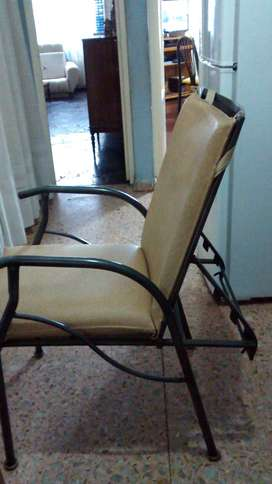Vendo sillon de hierro super comodo