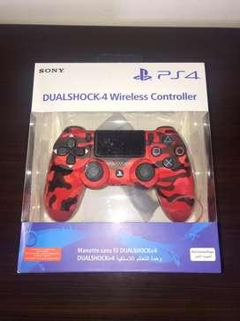 Control Dualshock 4 Rojo Camuflado