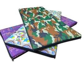 colchonetas estampadas 100x40x3 cm- con cierre - lavables - fitness /gym