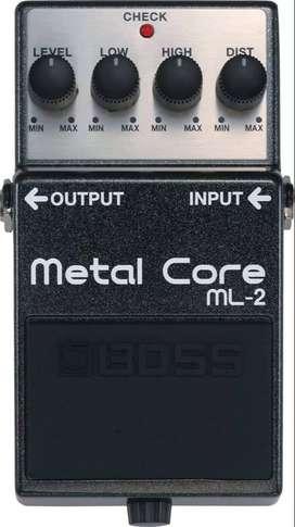Pedal efecto de guitarra metal core