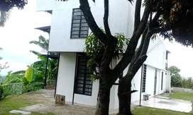 Vendo permuto  productiva, dos casas: vivienda y negocio, sobre vía pavimentada, 13 habitaciones, 10 baños, frutales
