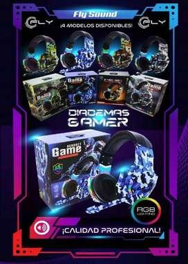 Diadema Gamer Camuflada, Audifonos PS4 XBOX ONE, PC, ps5 LUCES led, Soun HD Colors, 9600