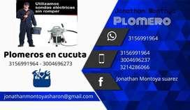 plomeros en cucuta con sondas eléctricas para destapar cañerías telef y whatsapp : 3156991964 y 3004696273