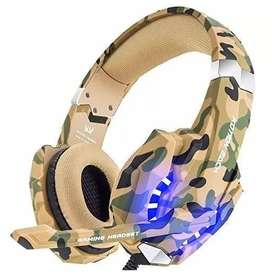 Diadema Balaca Gamer y Audifonos Ps4 Xbox One Pc Luces Led