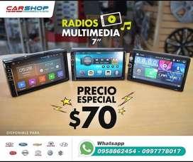 RADIO PANTALLA UNIVERSAL BASICA 2DIN 7 PULGADAS, SIN COSTO DE INSTALACIÓN