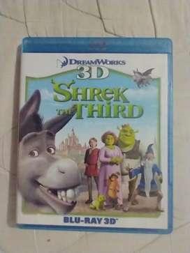 Shrek tercero Blu Ray (3d) original (usado) por favor leer la descripción