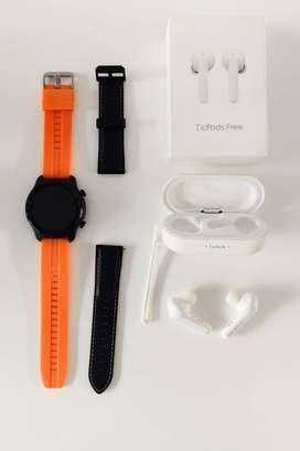 COMBO Smartwatch Ticwatch Pro 3 + AUDIFONOS  Ticpods Free