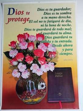 Póster con Versículos Bíblicos, nuevos lavables.
