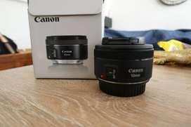 lente canon 50mm Nuevo