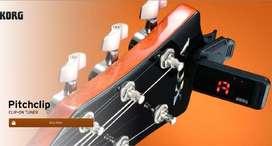 Korg Afinador guitarra bajo Clip pc1 Cromatico nuevo