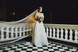 Vestido de novia. Diseñadora Erika Quizena