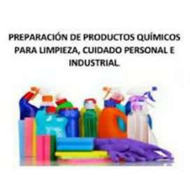 Vendo aplicaciones con productos químicos de limpieza y cuidado personal