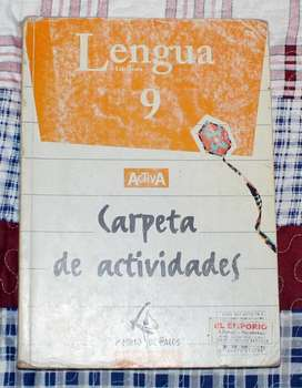Libros Lengua y Literatura 9 EGB Activa y Carpeta de Act.
