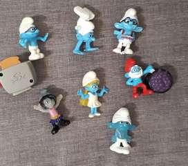 Muñecos Mc Donalds Pitufos