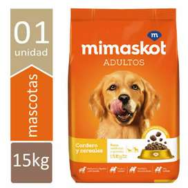 Mimaskot adulto 15 kg de cordero y cereales. NO ricocan